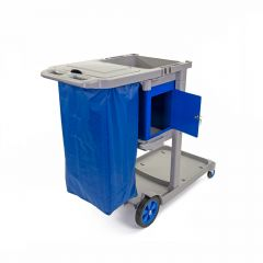 Janilec Carry All Mobile Cleaners Trolley Blue Janitorial Supplies