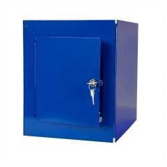 Janilec Carry All Mobile Trolley Lockable Storage Box Blue Janitorial Supplies