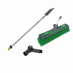 Unger nLite Connect Pole & Simple Power Brush Green 4.5m Janitorial Supplies