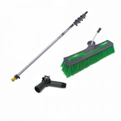 Unger nLite Connect Pole & Simple Power Brush Green 6m Janitorial Supplies