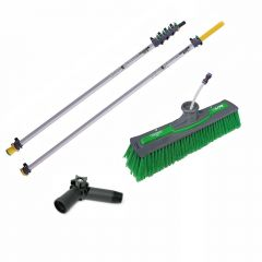 Unger nLite Connect Pole & Simple Power Brush Green 7.5m Janitorial Supplies
