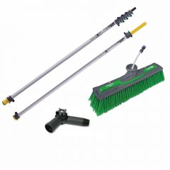 Unger nLite Connect Pole & Simple Power Brush Green 9m Janitorial Supplies