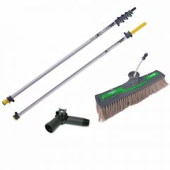 Unger nLite Connect Pole & Simple Power Brush Grey 9m Janitorial Supplies