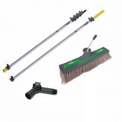 Unger nLite Connect Pole & Simple Power Brush Grey 7.5m Janitorial Supplies