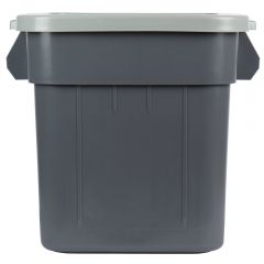 Continental Huskee 120 Litre Square Bin & Lid Grey Janitorial Supplies
