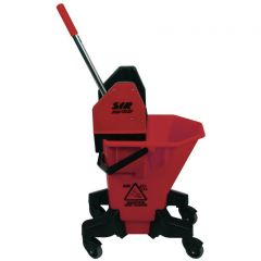 SYR Long Tall Sally Mop Bucket & Wringer Red Janitorial Supplies