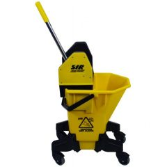 SYR Long Tall Sally Mop Bucket & Wringer Yellow Janitorial Supplies