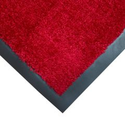 Coba Entraplush Plush Entrance Doormat Red 0.9m x 1.5m Janitorial Supplies