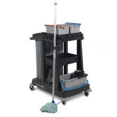 Numatic ECO-Matic EM1 Cleaning Trolley with Twist Mop Janitorial Supplies