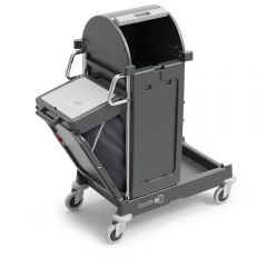 Numatic PRO-Matic PM10 Trolley C/W Swing-out Bin and Storage Hood Janitorial Supplies