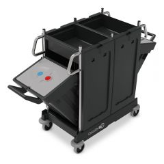 Numatic PRO-Matic PM12 Trolley C/W Swing-out Bins Janitorial Supplies