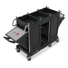 Numatic PRO-Matic PM22 Trolley C/W Swing-out Bins Janitorial Supplies