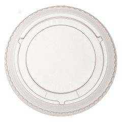 Compostable NFF Clear PLA No Hole Flat Lid 16oz