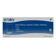 Enov Multifold Luxury Hand Towels White Janitorial Supplies
