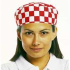 Skull Cap Red and White Check - One Size Janitorial Supplies
