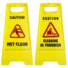 Floor Safety Sign CAUTION WET FLOOR Janitorial Supplies