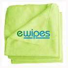 eWipe Microfiber Wipes Green Janitorial Supplies