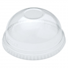 Solo DNR685 Ultra Clear Lid Domed No Hole Lid 7oz Janitorial Supplies